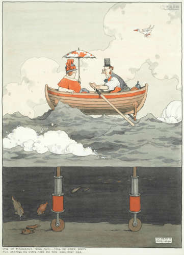 'One of Margate's New Anti-Mal-de-Mer Boats for Keeping an Even Keel in the Roughest Sea' William Heath Robinson(British, 1872-1944)