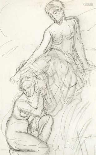 Two Female Figures Duncan Grant(British, 1885-1978)