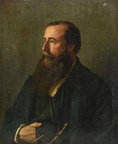 Bouché A., a portrait of a man, oil on canvas, dated 1872, 60 x 73 cm