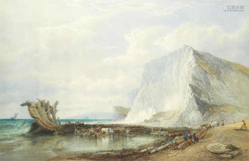 Culver cliffs, after the wreck Edward Duncan, R.W.S.(British, 1803-1882)