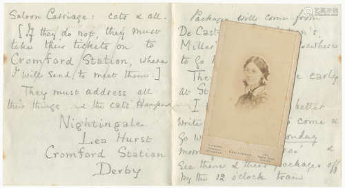 Four autograph letters (