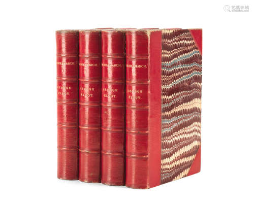 Middlemarch. A Study of Provincial Life, 4 vol., Edinburgh and London, William Blackwood, 1871-1872 ELIOT (GEORGE)