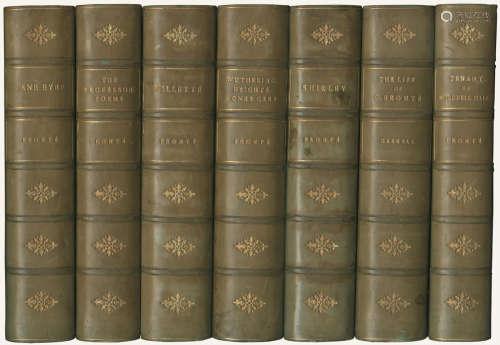 BRONTË (CHARLOTTE, EMILY AND ANNE) The Life and Works, Haworth Edition, 7 vol., [c.1910]; and approximately 66 others, including sets of George Eliot and Defoe (approximately 89) BINDINGS