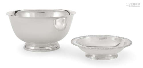 by Tiffany & Co., New York, NY, circa 1907-1965  Two American  sterling silver  bowls