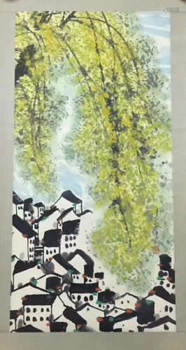 INK PAINTING PAPER OF WUGUANZHONG SIGN