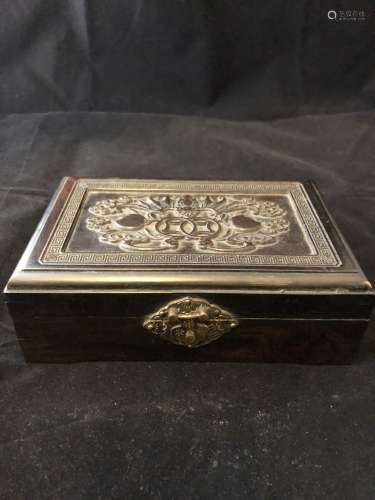 Ancient black wood Box