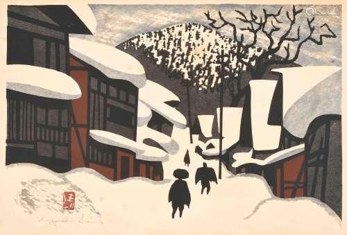 Saito Kiyoshi (1907–1997)Farbholzschnitt