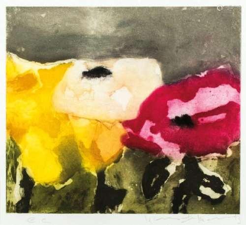Klaus Fussmann, born 1938 Velbert, roses red, white