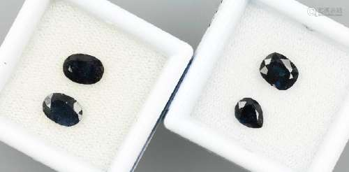 Lot 6 loose sapphires