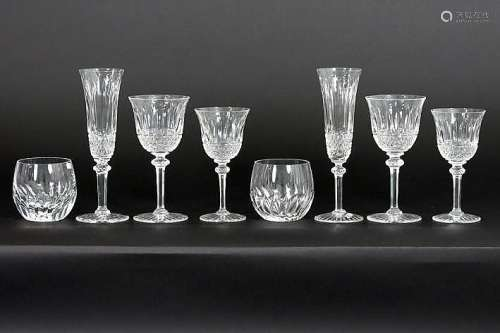 8 Belgian (VSL) and a set of 24 French St-Louis glasses in crystal