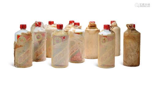 1983-1986年「金轮牌」内销贵州茅台酒(绵纸地方国营)