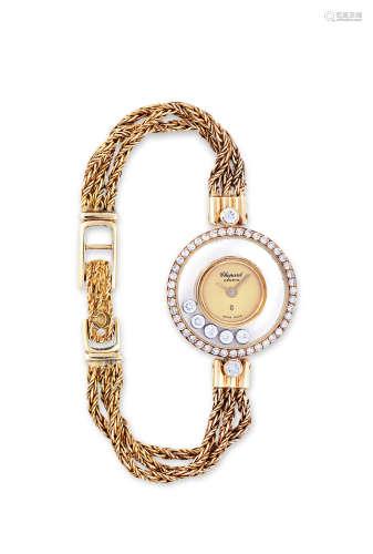 萧邦 黄金镶钻石女装腕表,「HAPPY DIAMONDS」,年份约1990