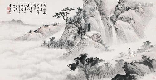 黄君璧 山水 镜片