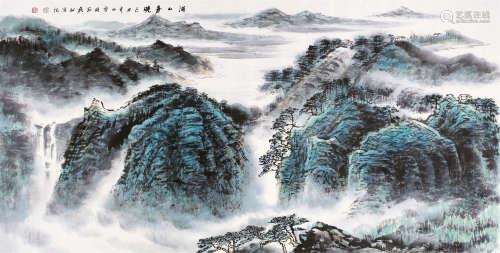 许钦松 己丑-2009年作 湖山春晚 镜片