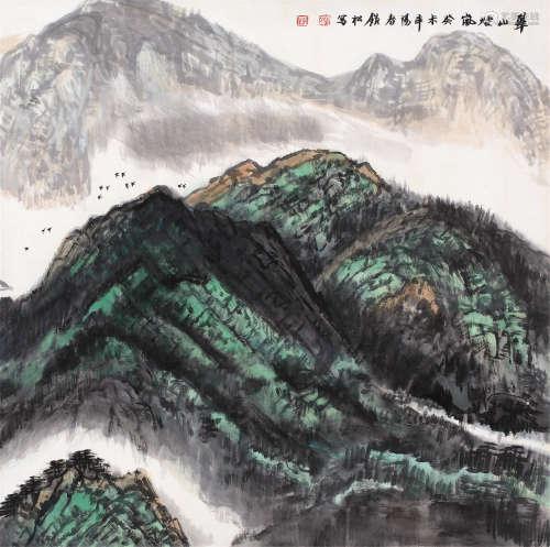 许钦松 癸未-2003年作 山水 镜片