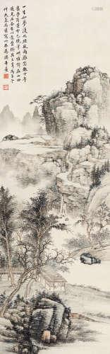 楼辛壶(1880~1950) 丙子(1936)年作 拟石谷笔意 立轴 设色纸本