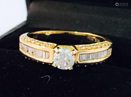 14k Yellow Gold Diamond Engagement Ring