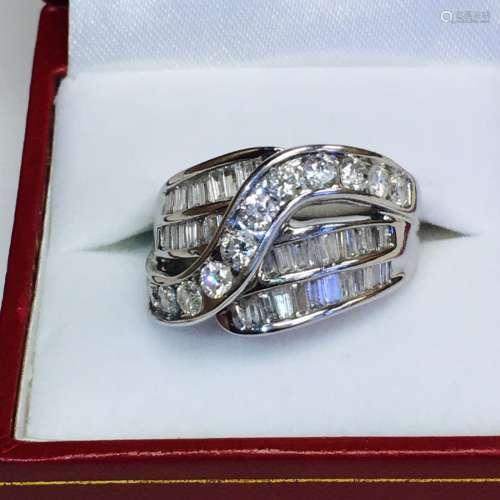 3.00 CT 14k White Gold Diamond Ring