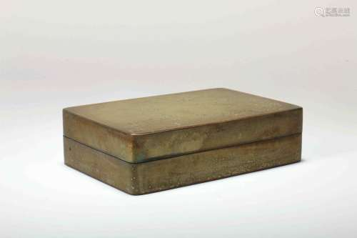 A Chinese Bronze Box with Cover