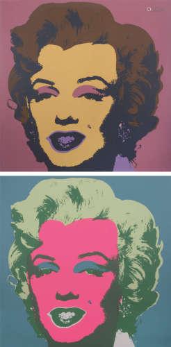 安迪·沃霍尔(1928~1987) 玛丽莲梦露 (二幅)