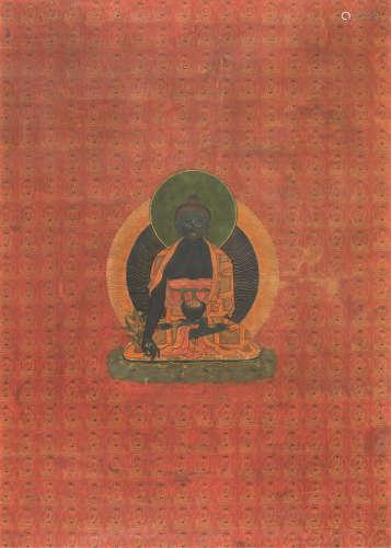 清代(1644-1911)年作 大日如来 唐卡