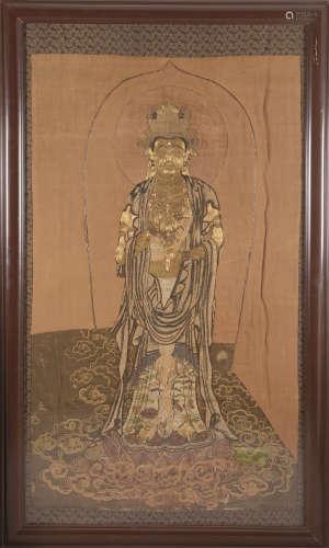 金线刺绣佛像