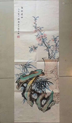A TRADITIONAL CHINESE PAINTING, BY LANFANG MEI