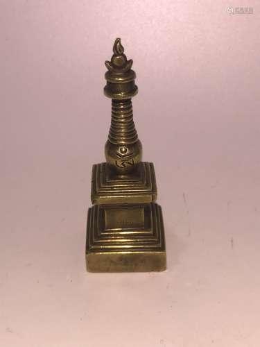 17世纪合金铜精品噶当塔