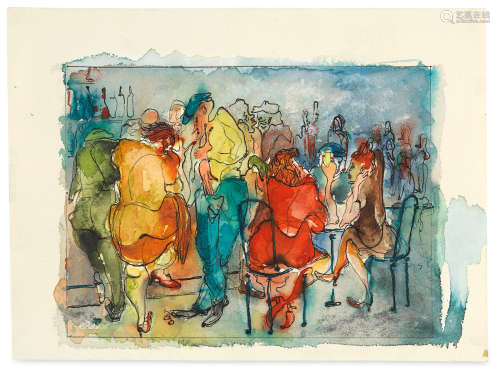 Untitled (Bar Scene), 1947 Andy Warhol(American, 1928-1987)