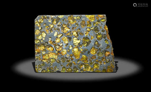 Esquel, a Superlative Pallasite With Outer Space Gemstones – Large Slice