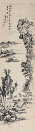 盛大士 壬午(1822年)作 峭壁盘云 镜心 纸本