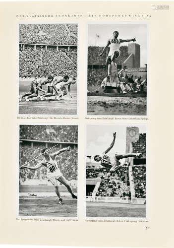 1936年柏林奥运会纪念册 纸本