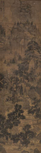 沈周(款) 1488年作 秋山图 镜心 绢本