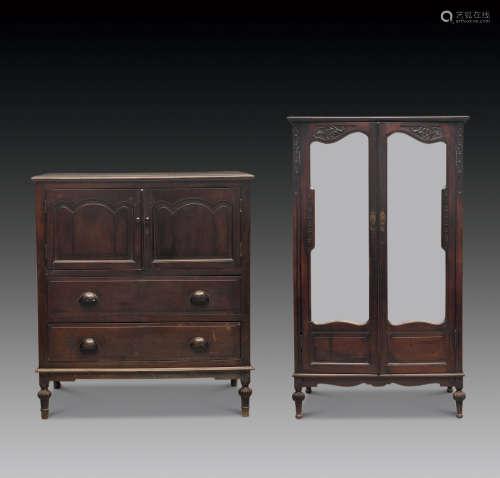 民国 红木雕花衣柜 (二件)
