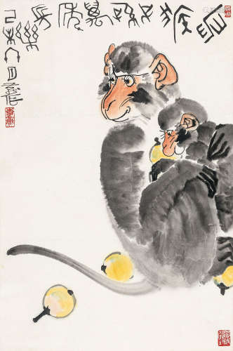 李燕 己未(1979年)作 万年长乐 立轴 纸本