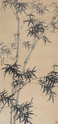 金城 戊午(1918年)作 墨竹 立轴 纸本