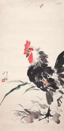 萧 朗(1917-2010) 大吉图 纸本设色 镜片