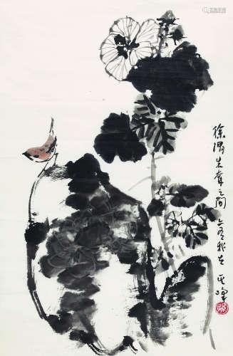 孙其峰(b.1920)  花鸟 纸本设色 镜片
