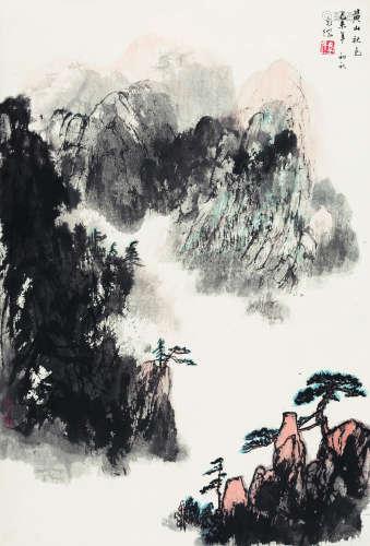 孙克纲(1923-2007) 1979年 黄山秋色 纸本设色 立轴