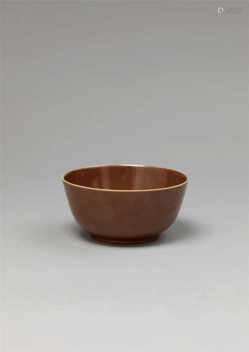 清道光 紫金釉碗