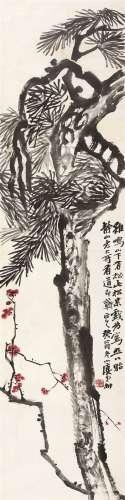 张柟(1876~1952) 松梅 镜心 设色纸本