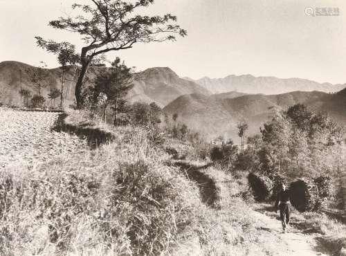 郎静山(1892~1995) 山径归樵 摄影