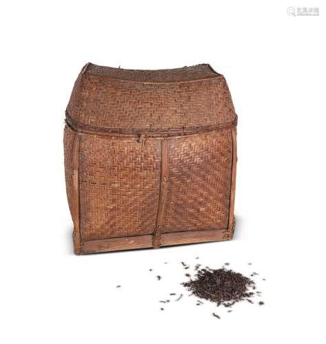 文革期间 文革野生茶(竹篮框)