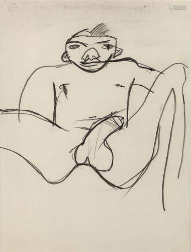 Keith Vaughan (1912-1977) Reclining Male Nude