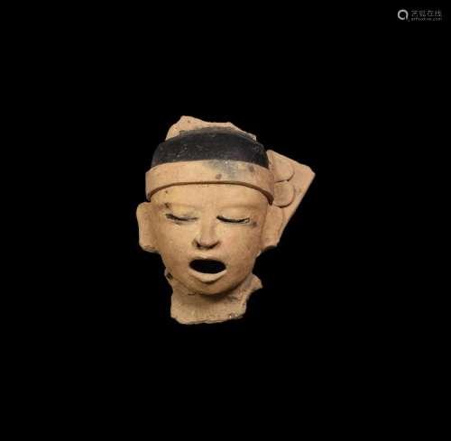 Pre-Columbian Mayan Xipe Totec Statue Head