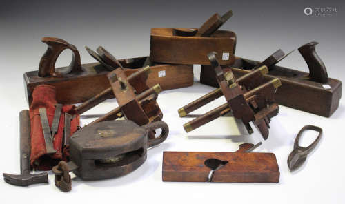 A small group of woodworking planes