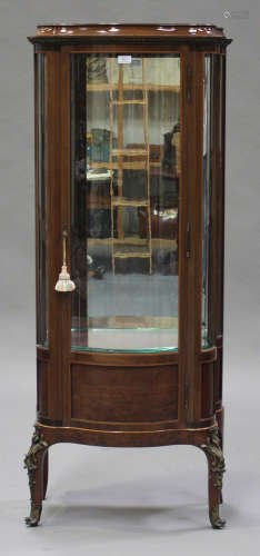 A late 20th century Louis XV style mahogany and gilt metal mounted vitrine