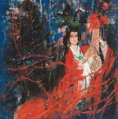 石齐(b.1939) 昭君出塞图 镜心 设色纸本