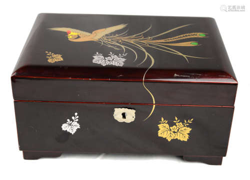 Lacquered Wooden Jewelry Boxes