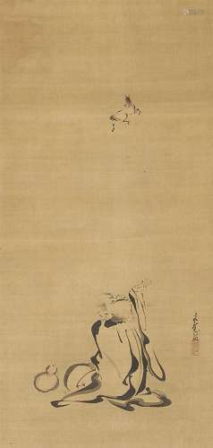 A hanging scroll by Katô Bunrei (1706-1782)